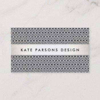 stylish designer modern black and white pattern business card