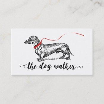 stylish dog walker business | dog lover business card