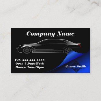 stylish elegant bold automobile eu business card