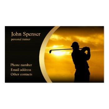 Small Stylish Golf Coach Business Card Front View