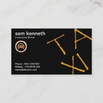 stylish jazzy chic simple modern taxi service business card