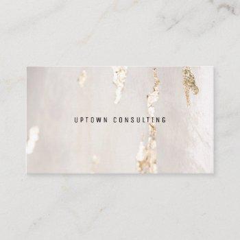 stylish luxuri faux gold foil business card