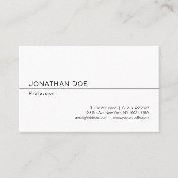 stylish minimalist modern professional sleek plain business card