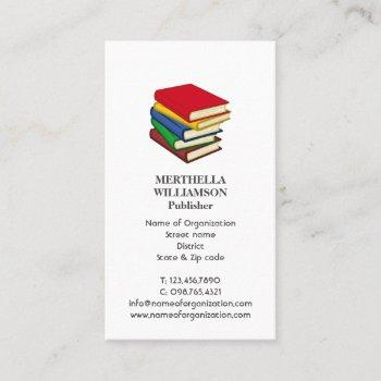 stylish publisher books add photo logo business card