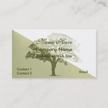 stylish tree silhouette business card