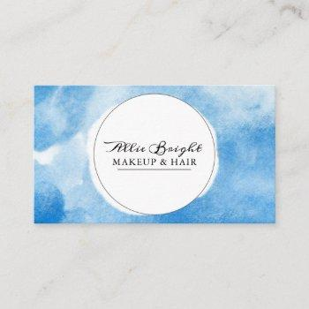 stylish watercolor business cards