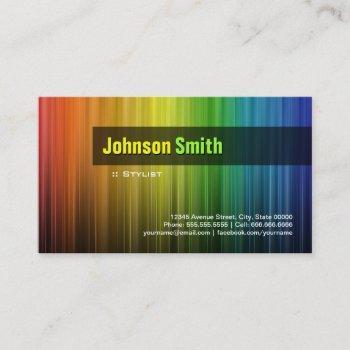 stylist - stylish rainbow colors business card