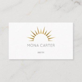 stylistic art deco sun business card