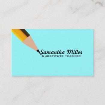 substitute teacher business cards