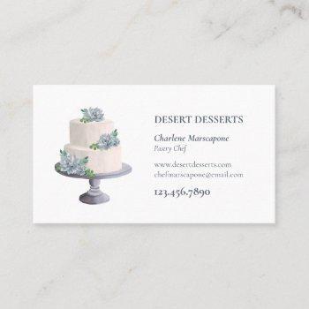 succulent cake dessert business card