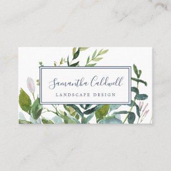 summer greenery business card