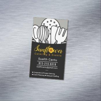 sunflower catering & events #2 business card magnet
