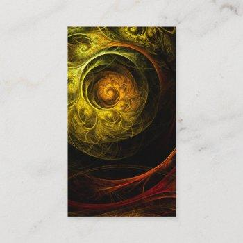 sunrise floral red abstract art business card
