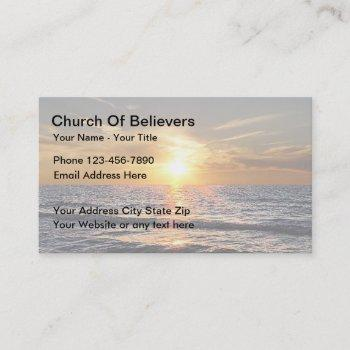 sunset church business cards