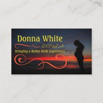 sunset pregnancy business card