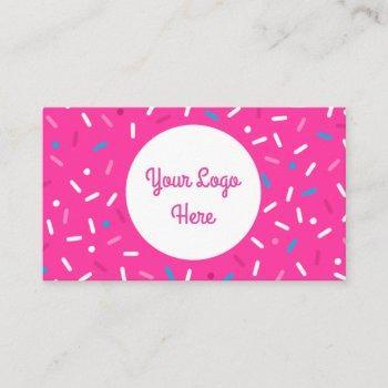 sweet simple sprinkle multi-color business card