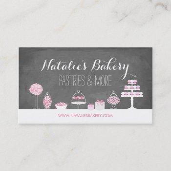 sweet treats chalkboard bakery business card