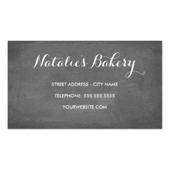Small Sweet Treats Chalkboard Bakery Business Card Back View