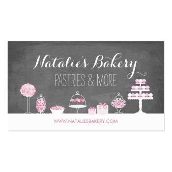 Small Sweet Treats Chalkboard Bakery Business Card Front View