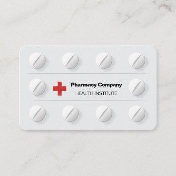 tablets pills box professional medical cross business card