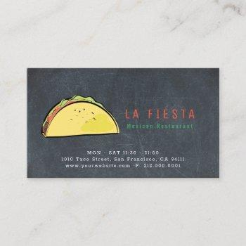 taco chalkboard simple & modern business card