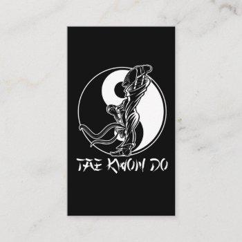 taekwondo martial arts tae kwon do self defense business card