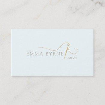 tailor needle and thread business card
