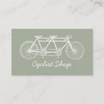 tandem bicycle, cycling, bicyclist business card