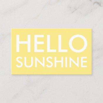 tanning & beauty salon minimalist business card