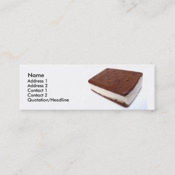 tasty ice cream sandwich mini business card