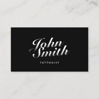 tattoo art dark stylish calligraphic business card