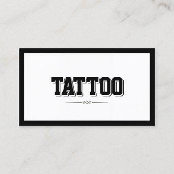 tattoo artist minimalist modern bold border business card
