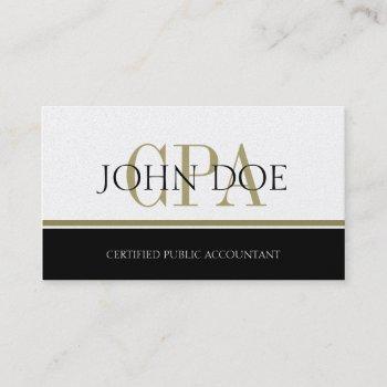 tax accountant gold stripes cpa business card