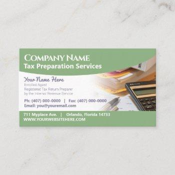 tax preparation (preparer) business card