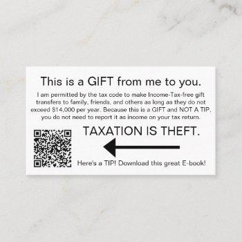 taxation is theft cards