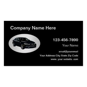 Small Taxi Car Service Ride Sharing Business Card Front View