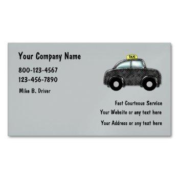 taxi service magnetic business card