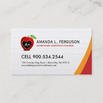 teacher - educator business card