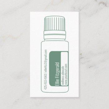 teal balance blue essential oil bottle business card