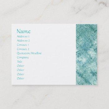 teal oversized business cards