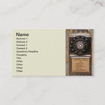 telephone antique rotary pay phone steampunk booth business card