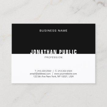 template modern black white elegant professional business card