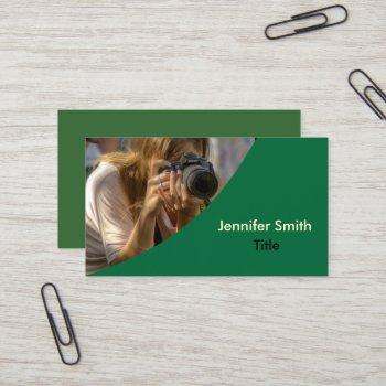 template | photography | photographer - green business card