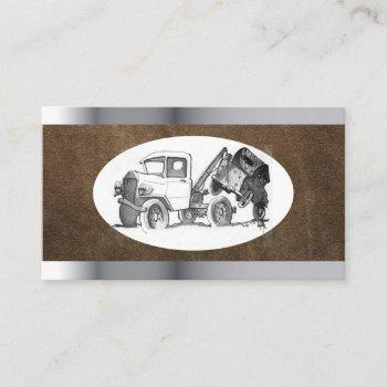 template tow truck business card