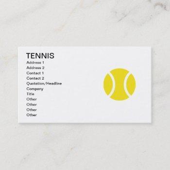 tennis business card template