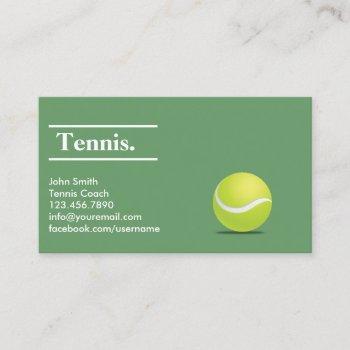tennis coach professional minimalist business card