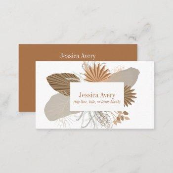terracotta boho tropical business card
