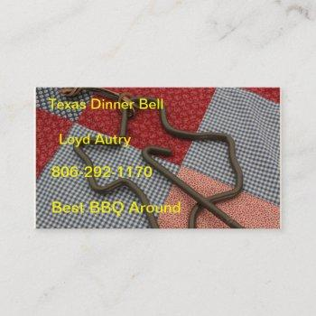 texas dinner bell business card