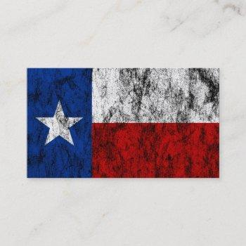 texas flag business card