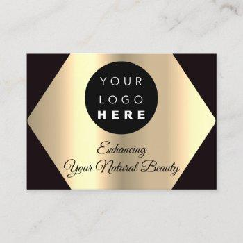 thank you for your purchase gold custom logo business card